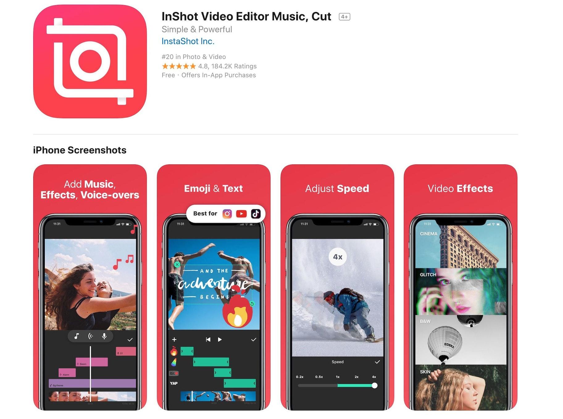 InShot Mobile App