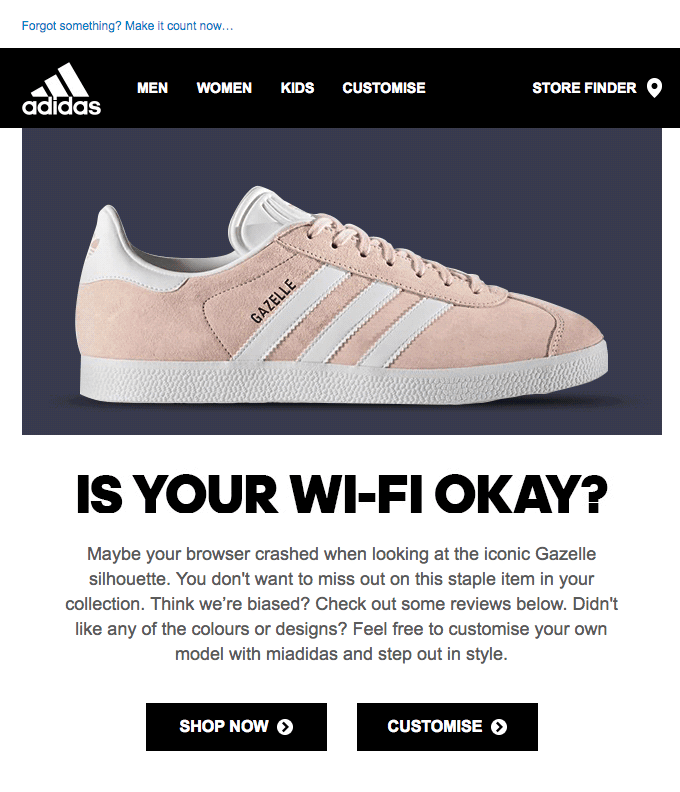 Adidas Email Template