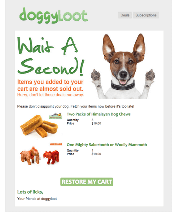Doggyloot Email Template