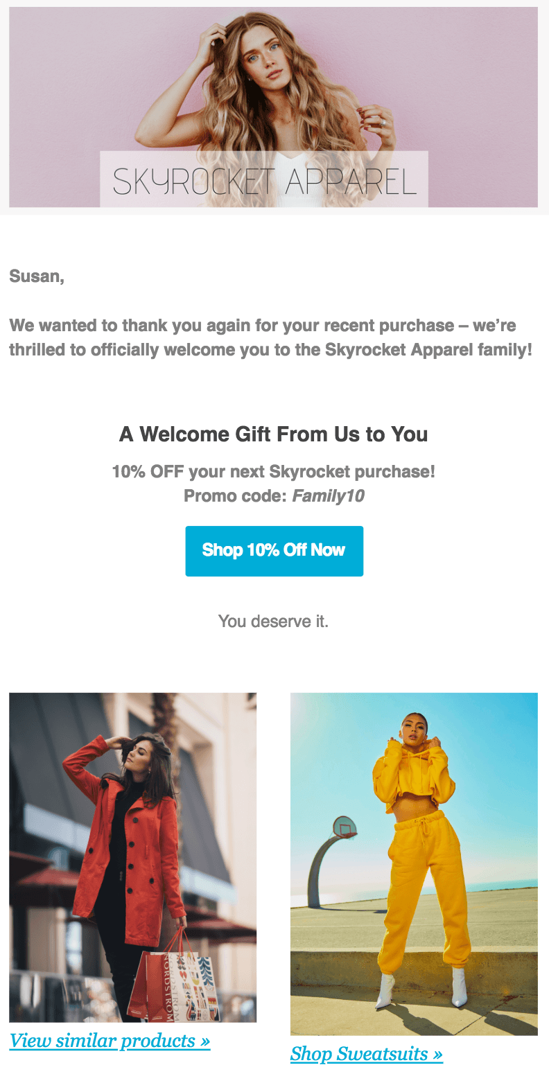 New Customer Email Template