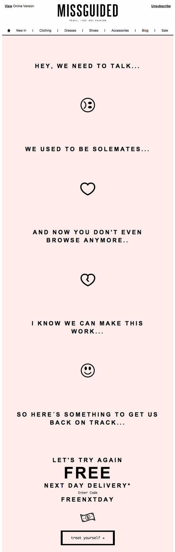Missguided Email Template