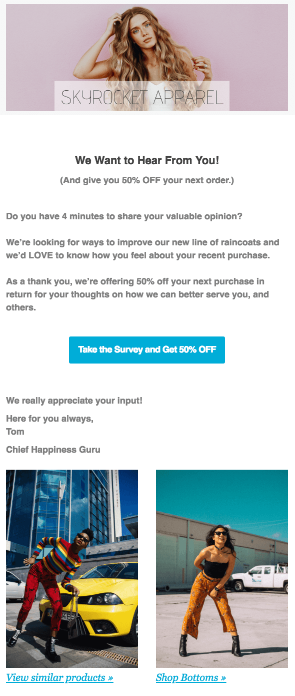 Survey Request Email Template