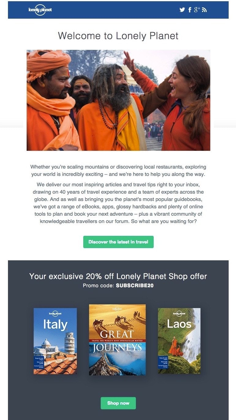Lonely Planet Email Template