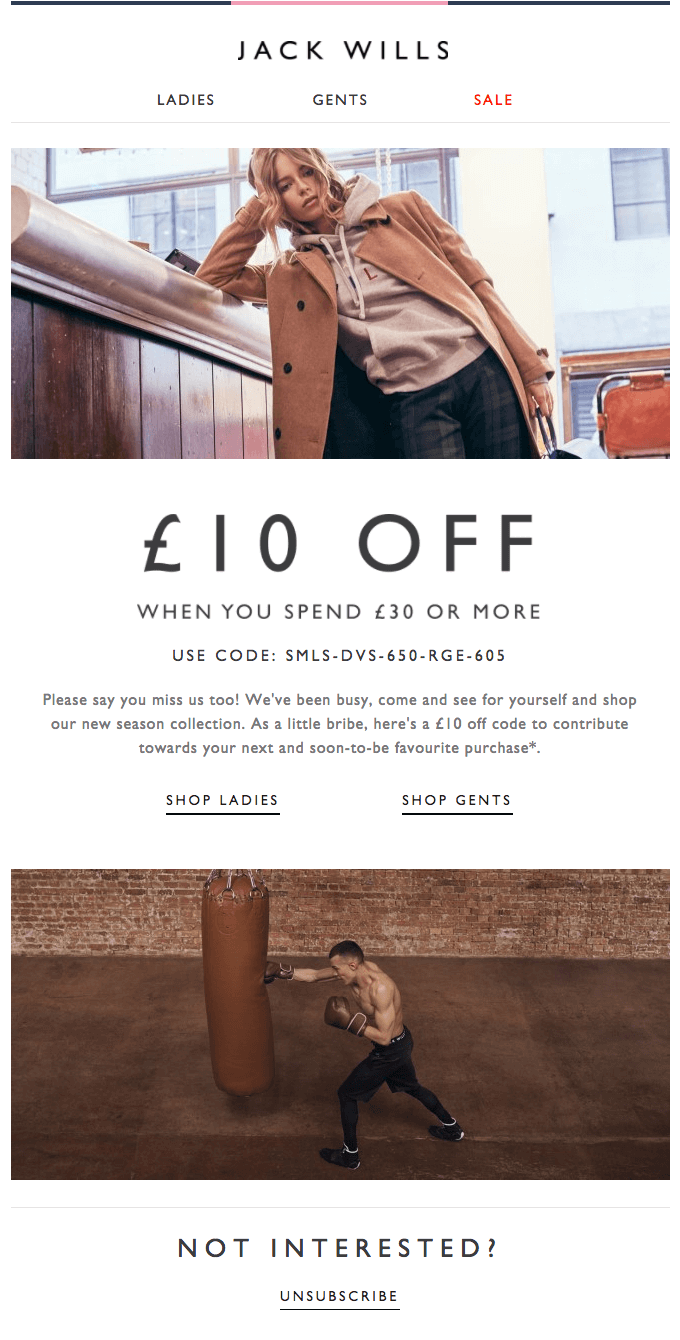 Jack Wills Email Template