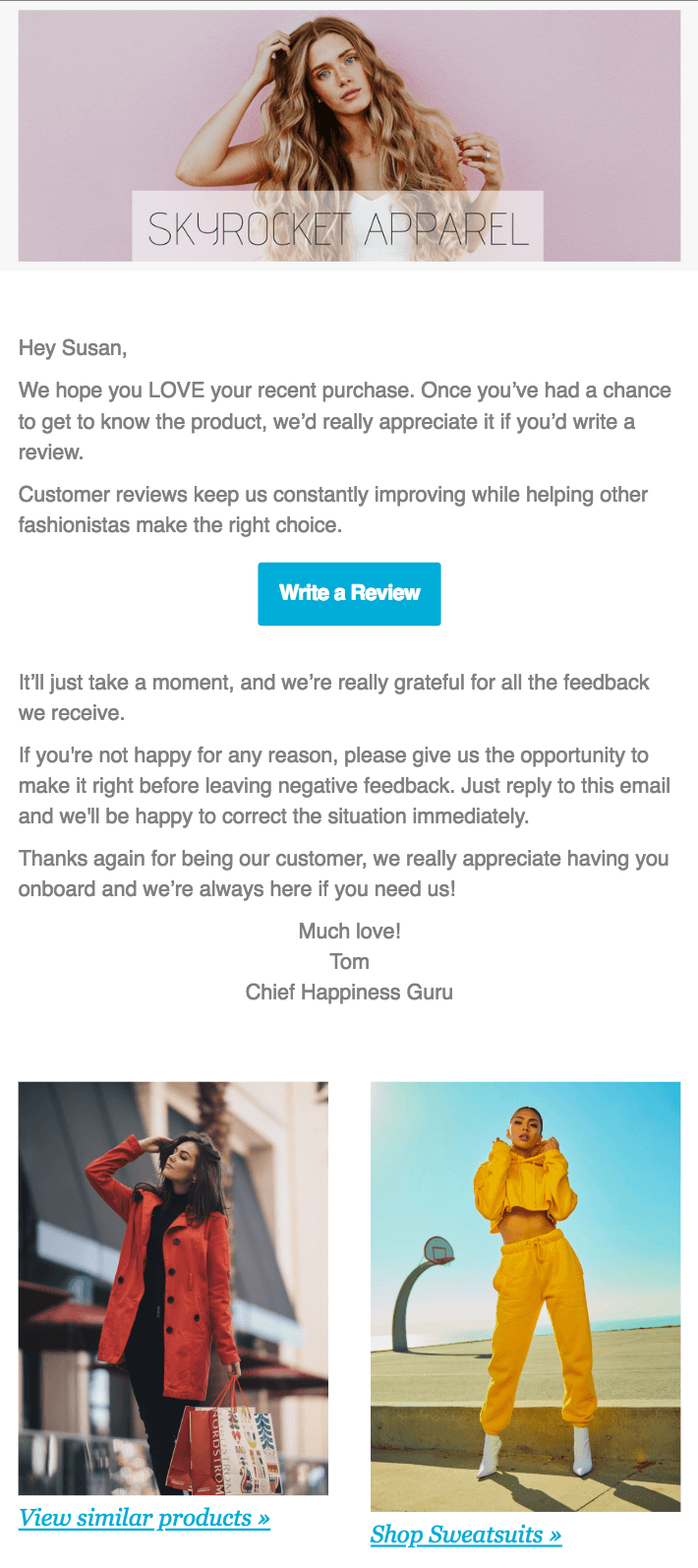 Review Request Email Template