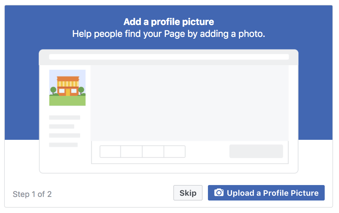 Facebook Business Page Upload Profile Picture