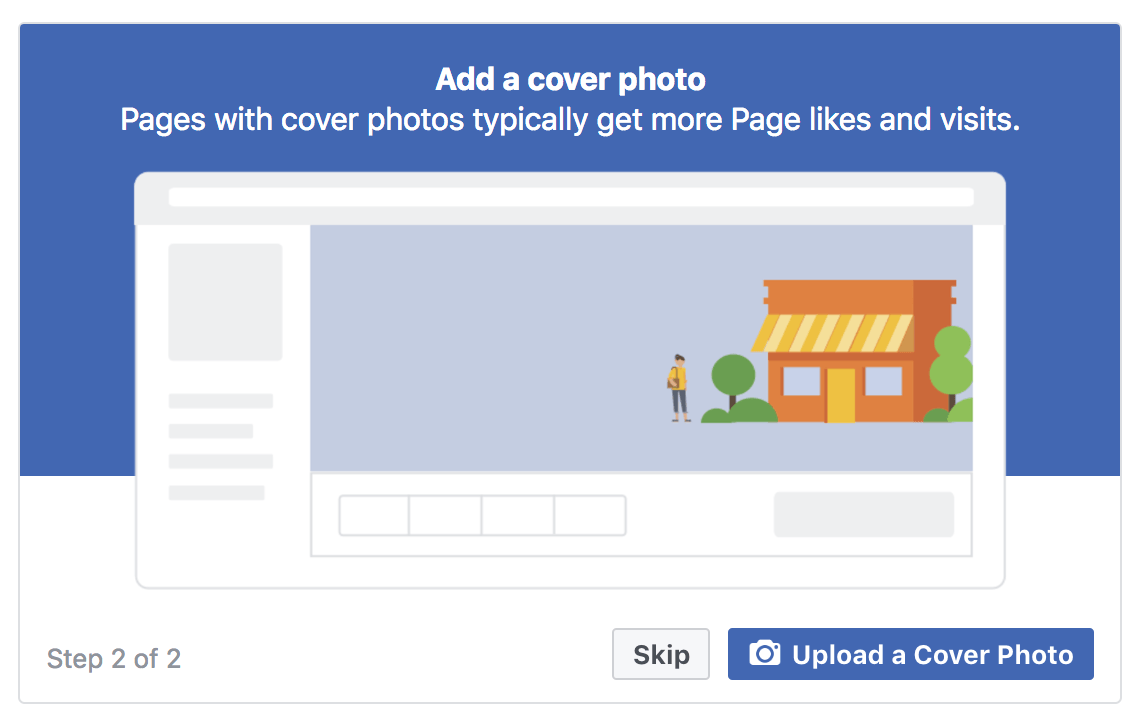 Facebook Business Page Add Cover Photo