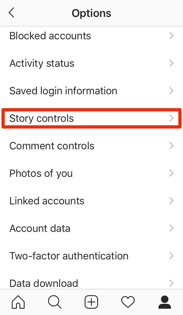 Instagram Story Controls