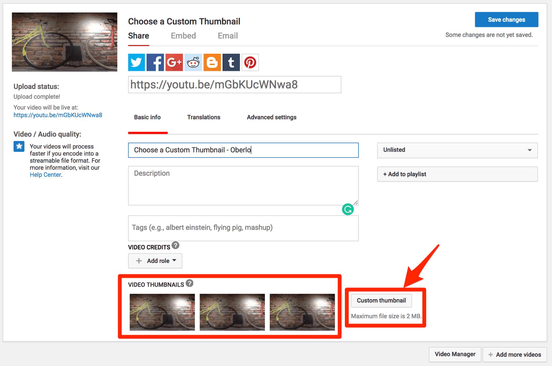 YouTube Custom Thumbnails