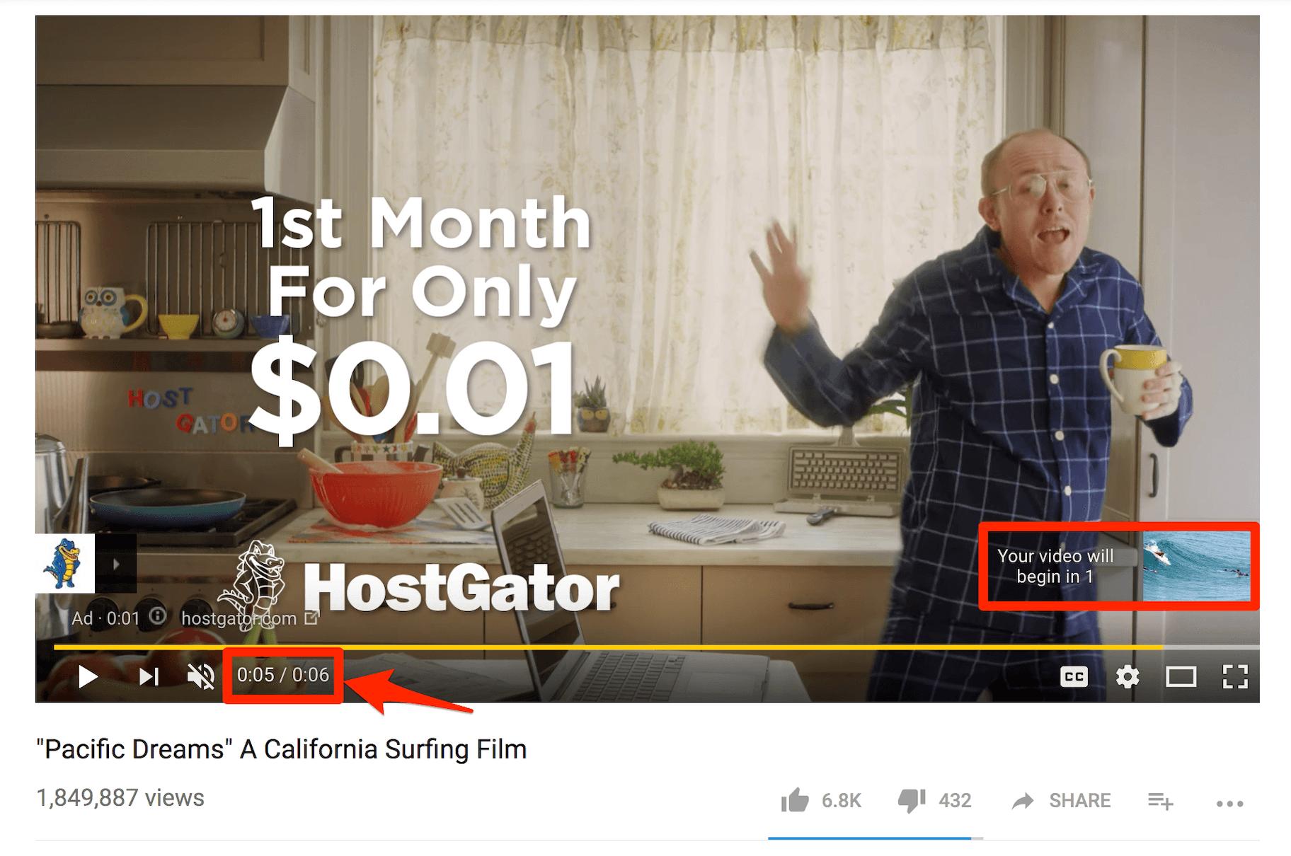 Bumper YouTube Ad