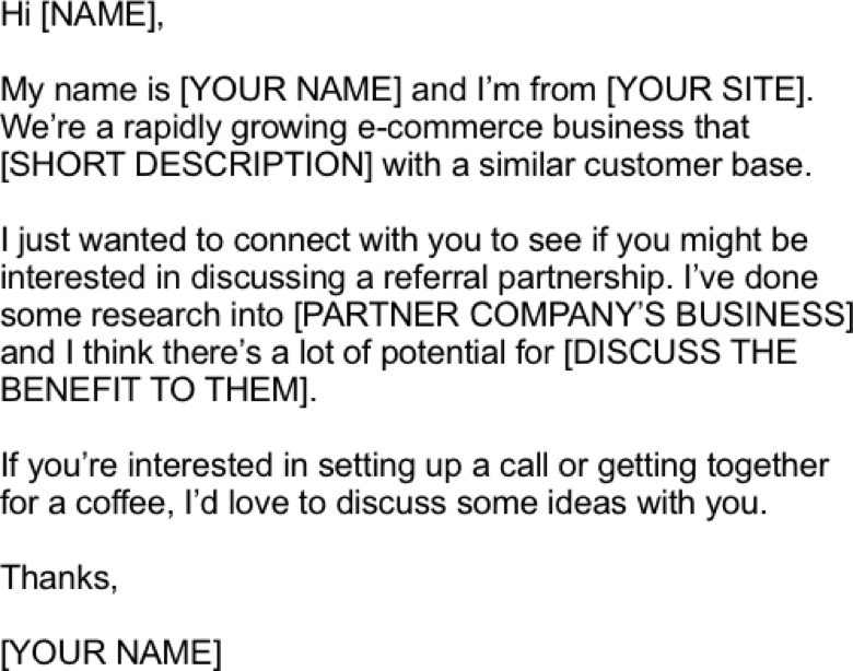 referral partner outreach template