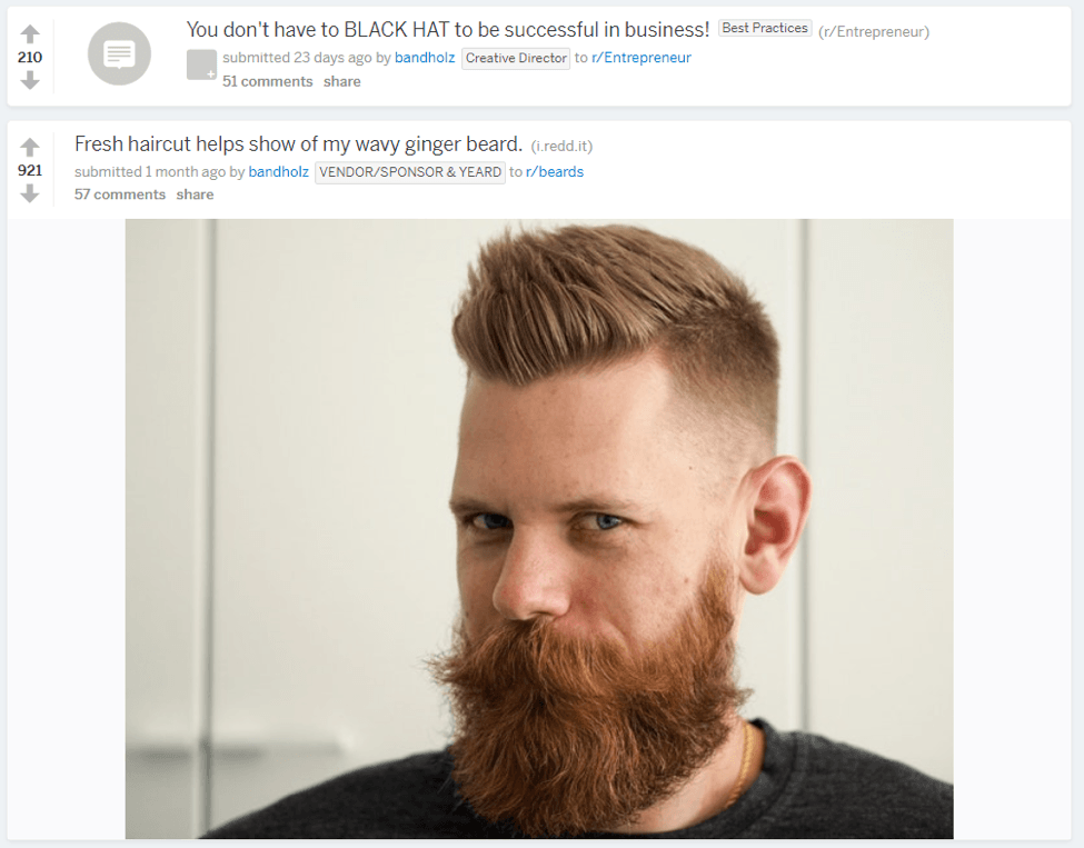 Beardbrand reddit posts