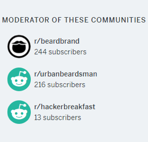 Beardbrand reddit communities