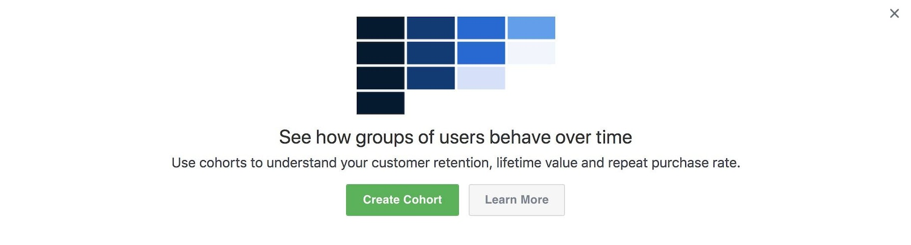 Creating cohorts in Facebook analytics