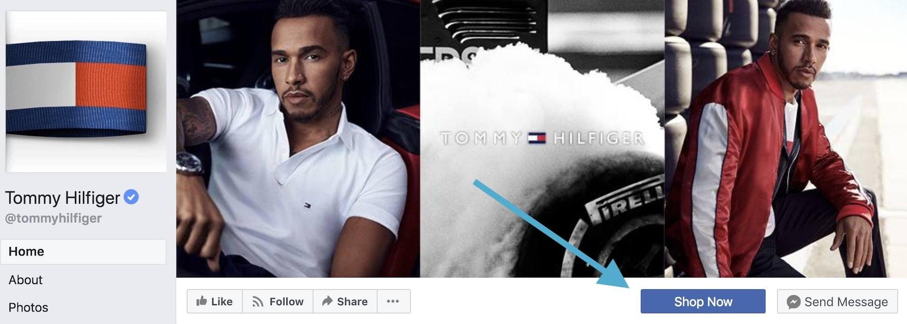 Tommy Hilfiger Facebook shop