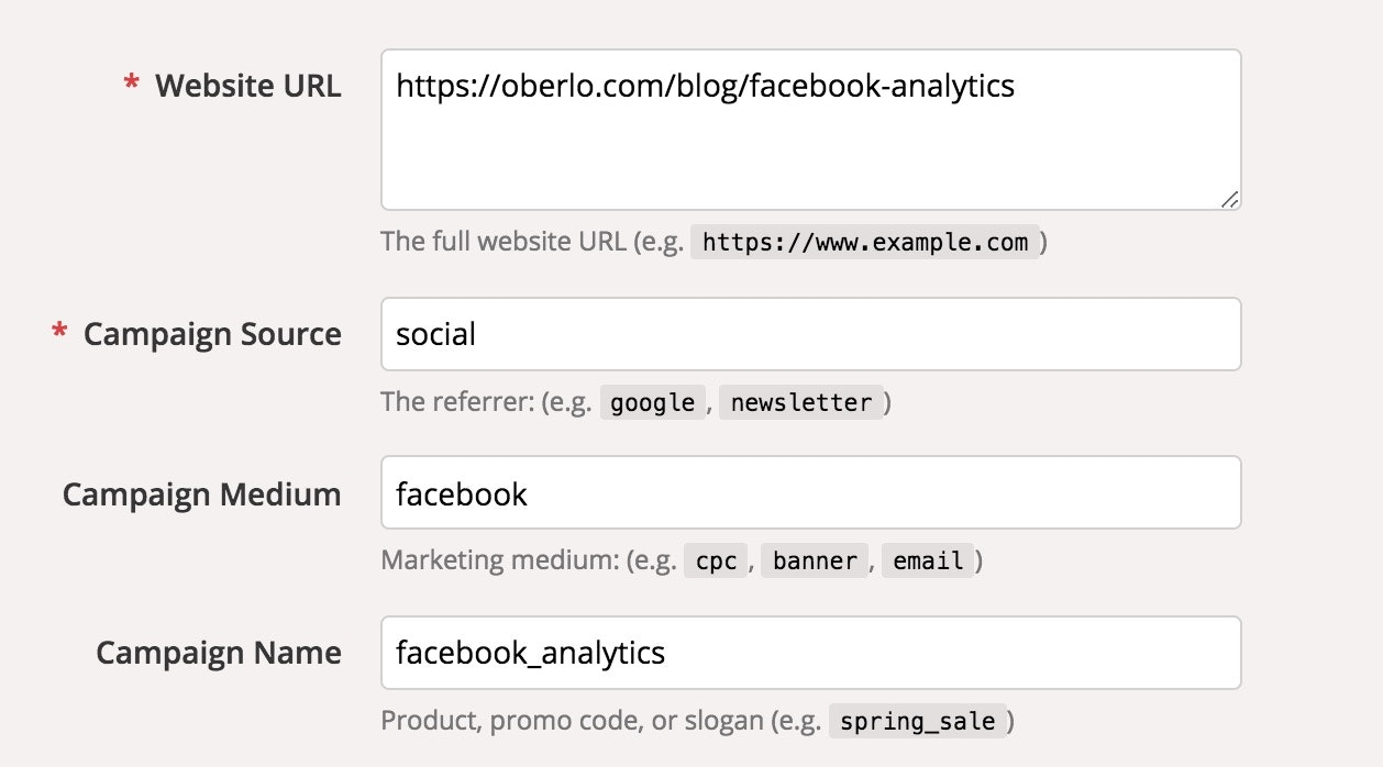 Google Analytics Facebook attribution