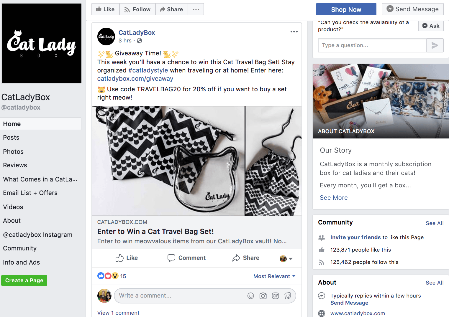 use giveaways to get facebook likes
