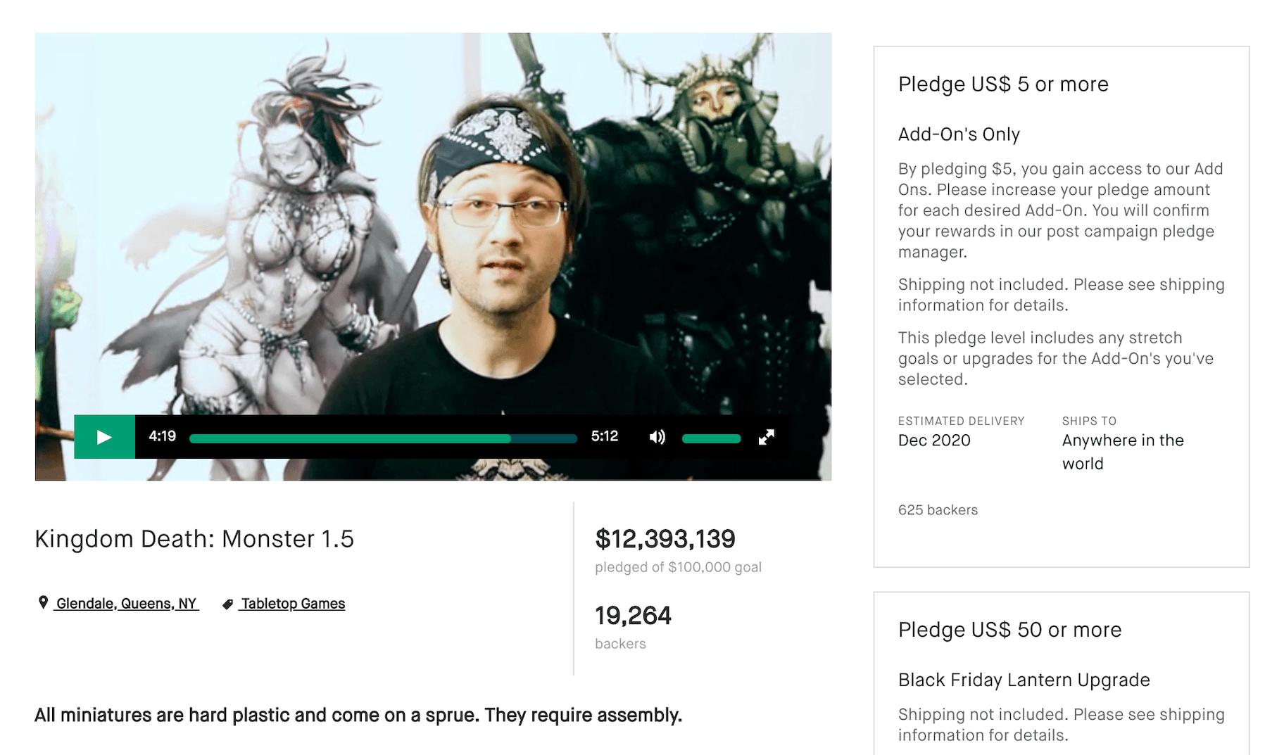 Kingdom Death Kickstarter Campaign