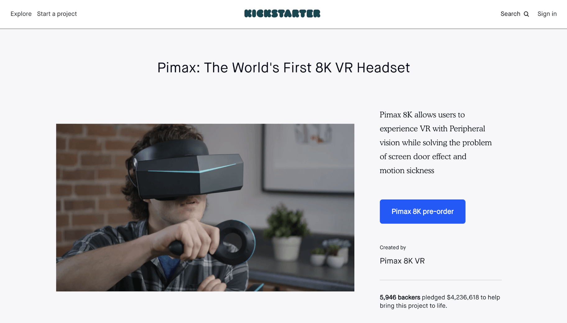 Pimax Kickstarter