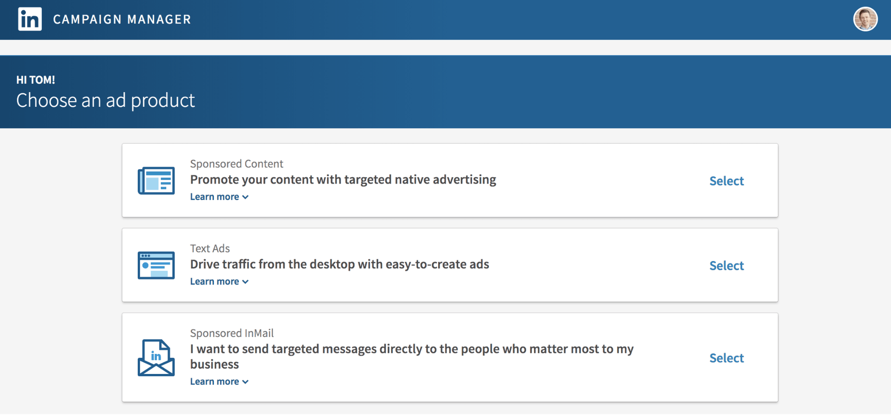 Type of LinkedIn Ads