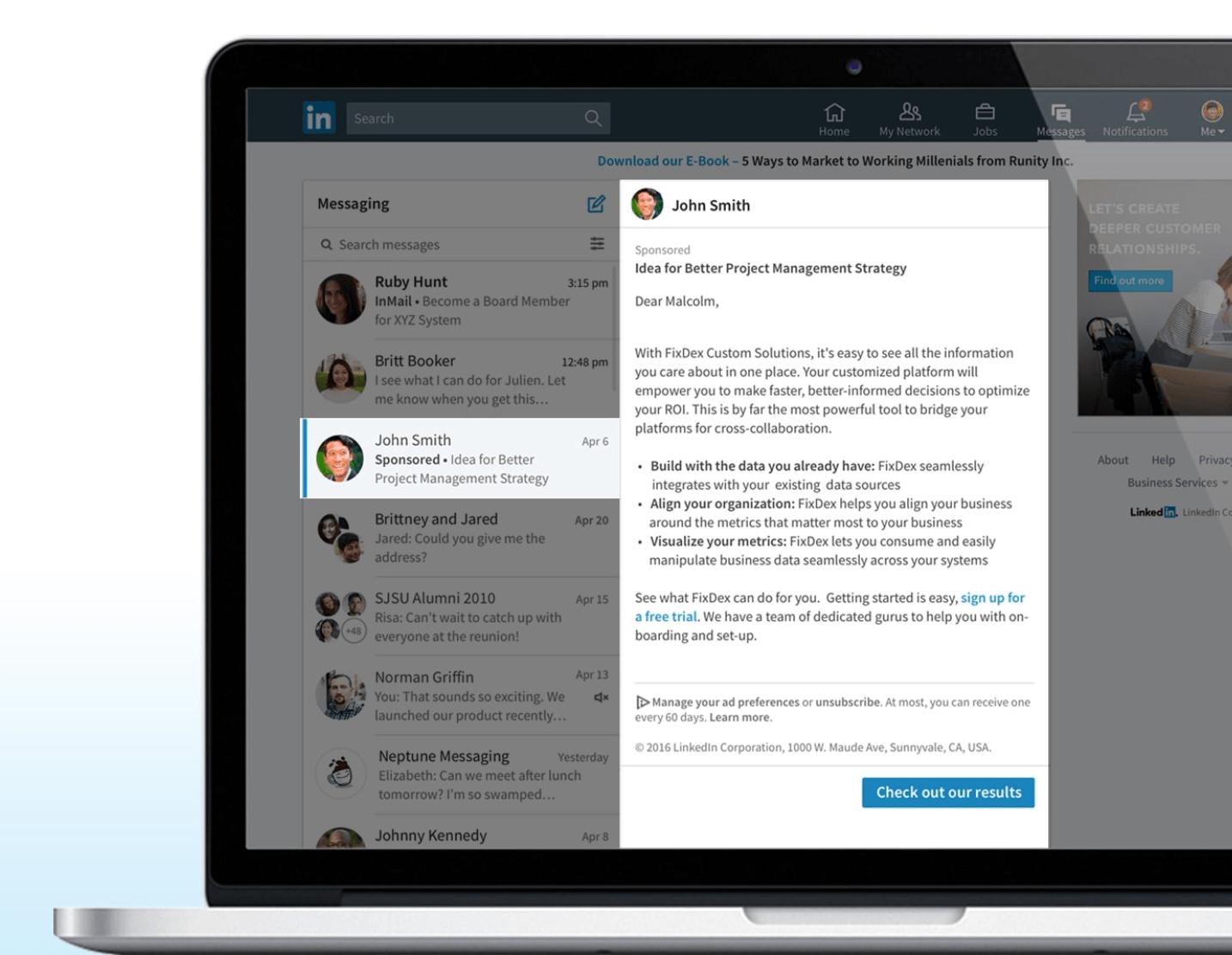 LinkedIn Ads Sponsored InMail
