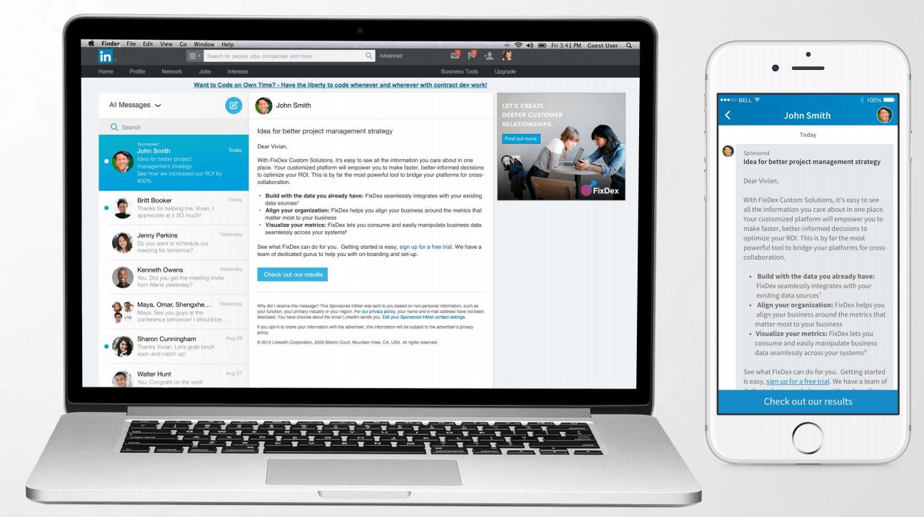 LinkedIn Ads InMail
