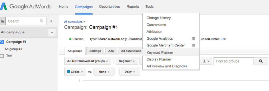 how to find dropshipping niche with AdWords keyword planner