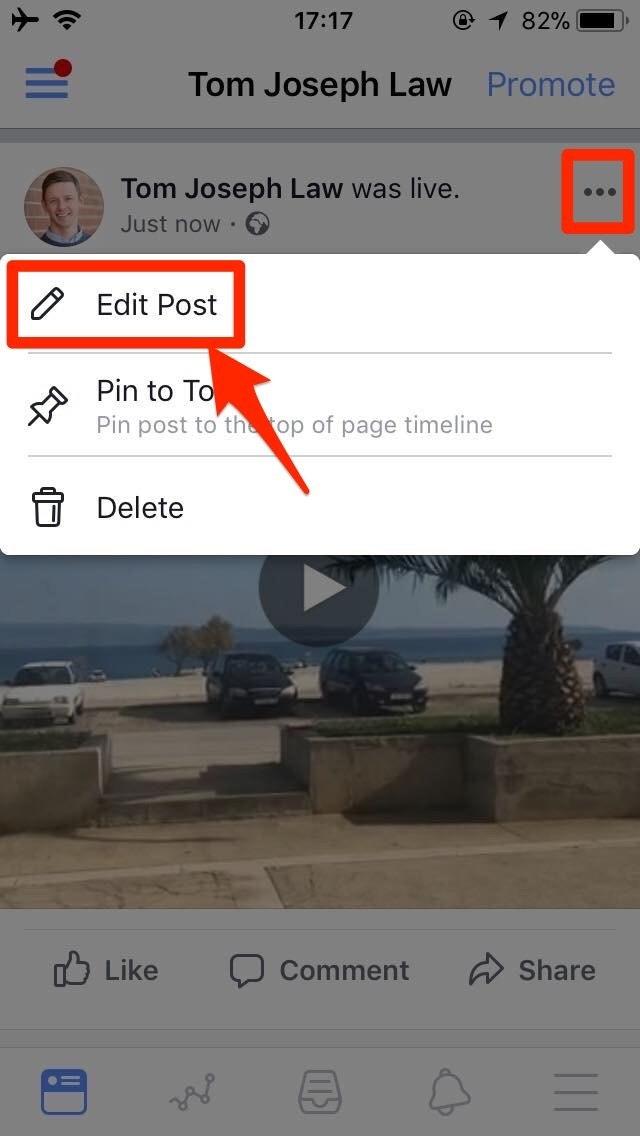 Editing Facebook Live Videos