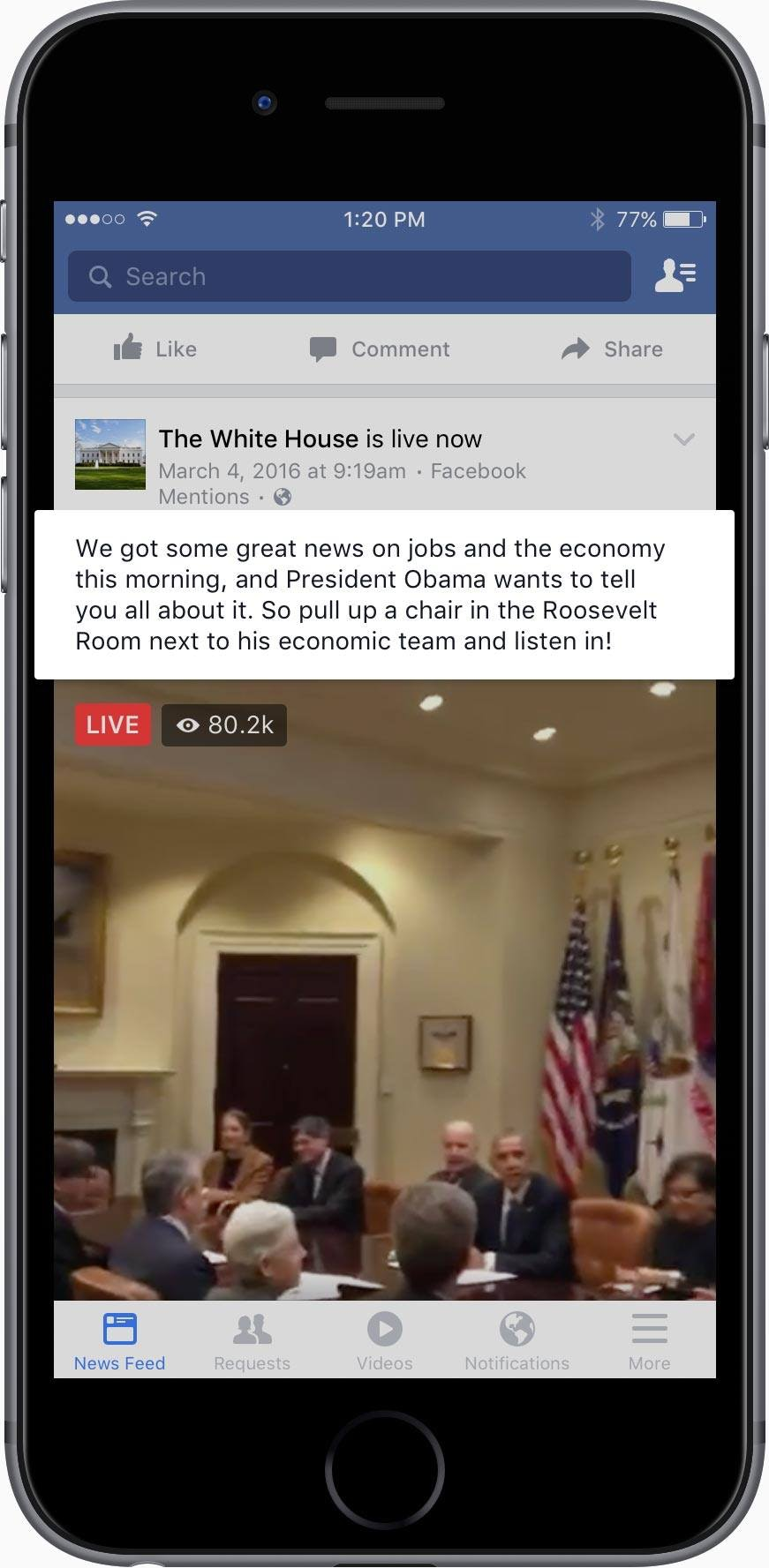 Description Facebook Live Video