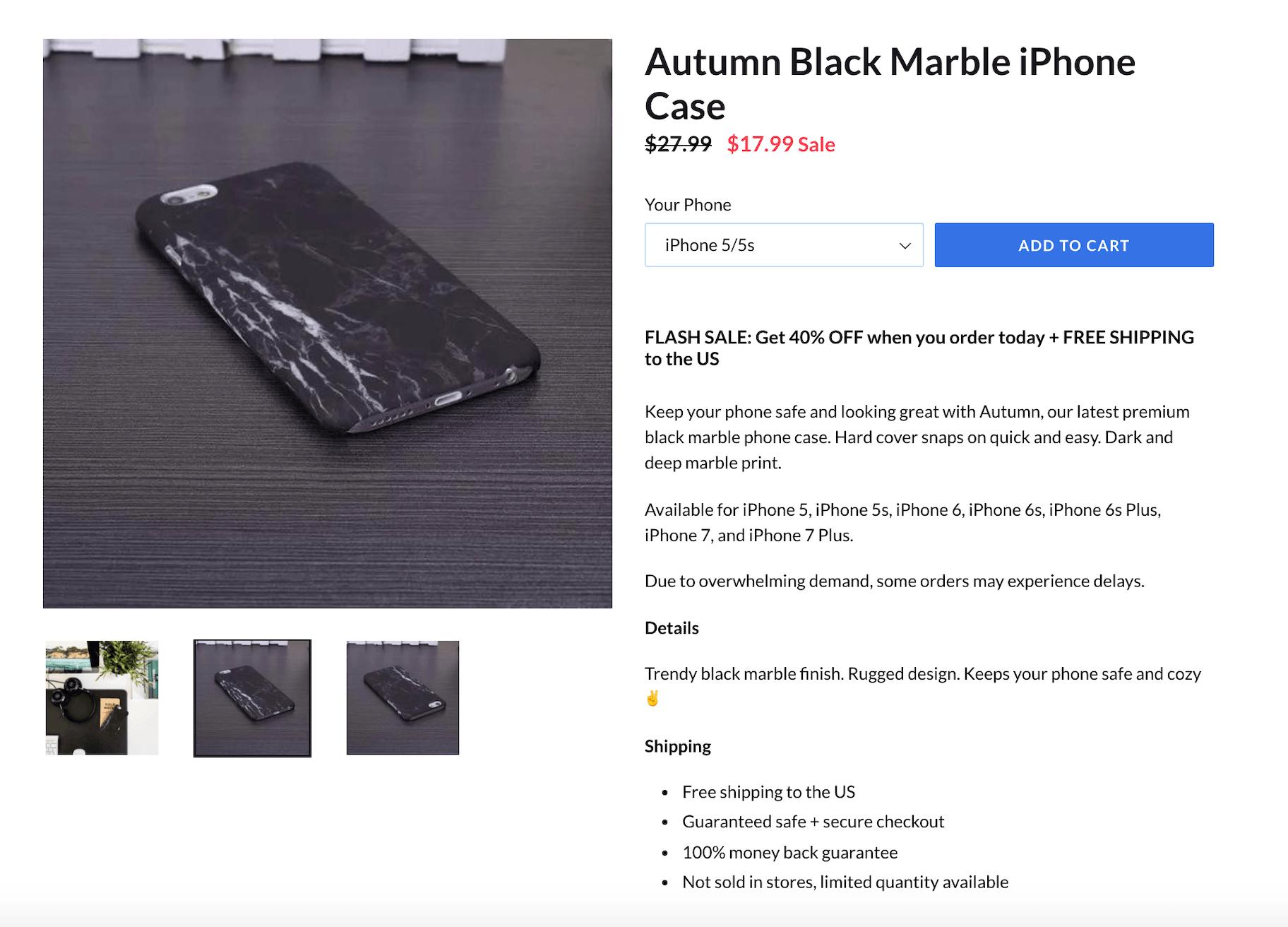 Autumn Product Description