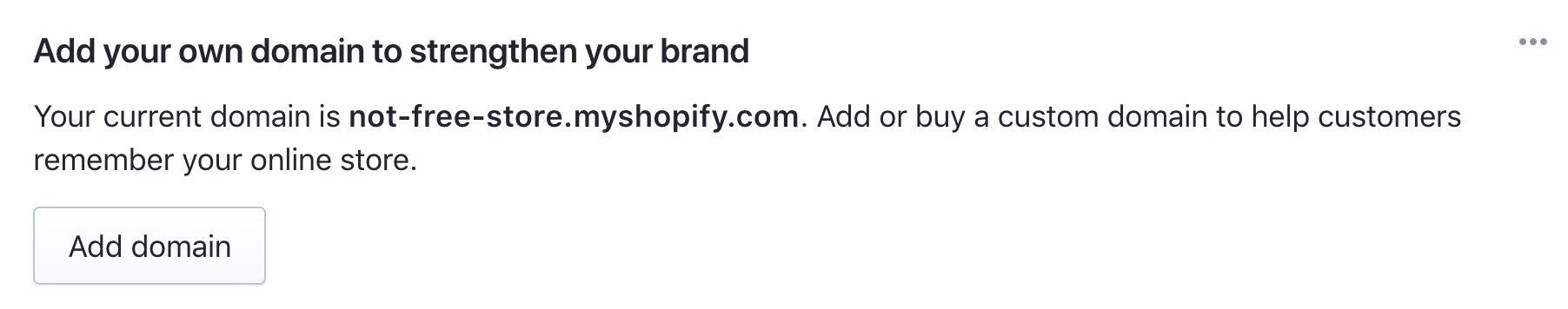 Shopify Domain Name Register