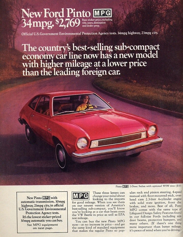 Ford Pinto Psychographic Ad