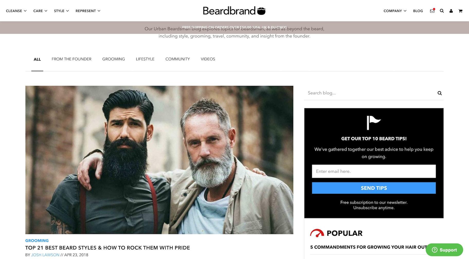 best blog layouts