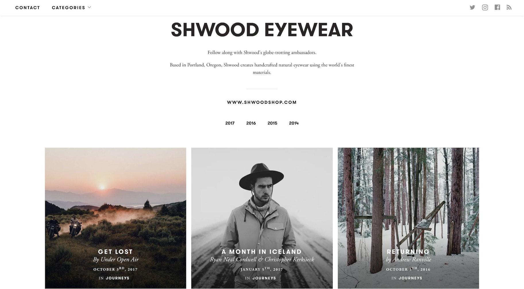 blog design inspiration