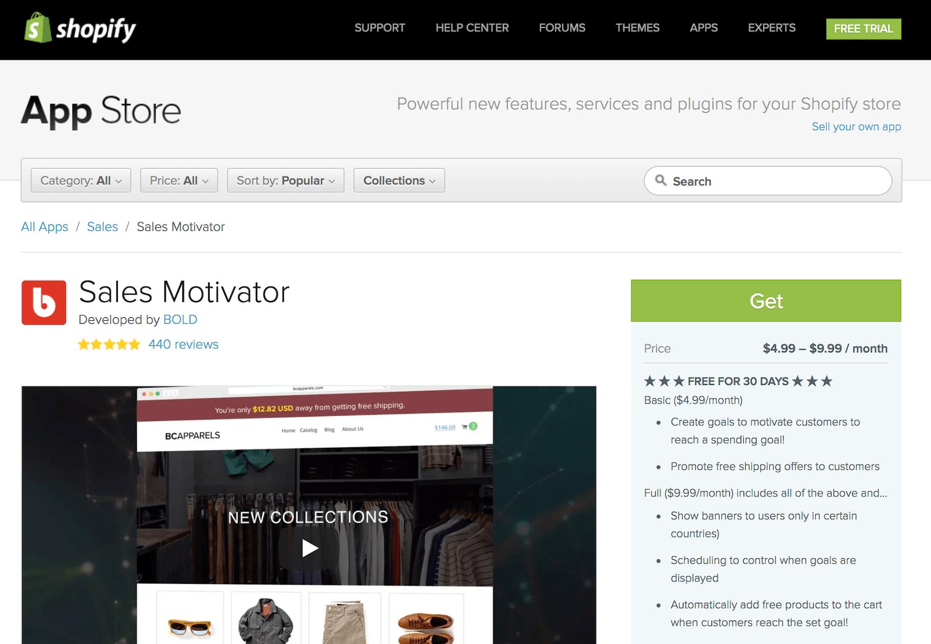 Sales Motivator Shopify App
