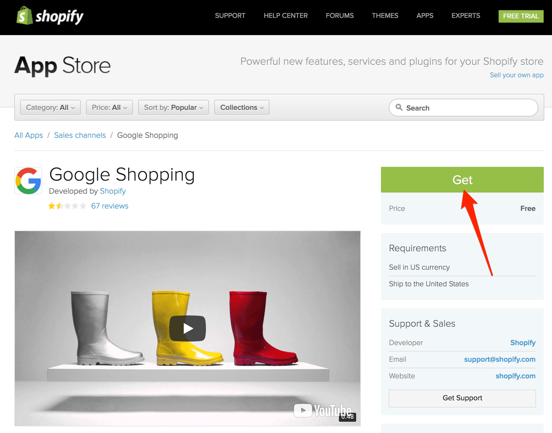 Shopify Google Shopping App