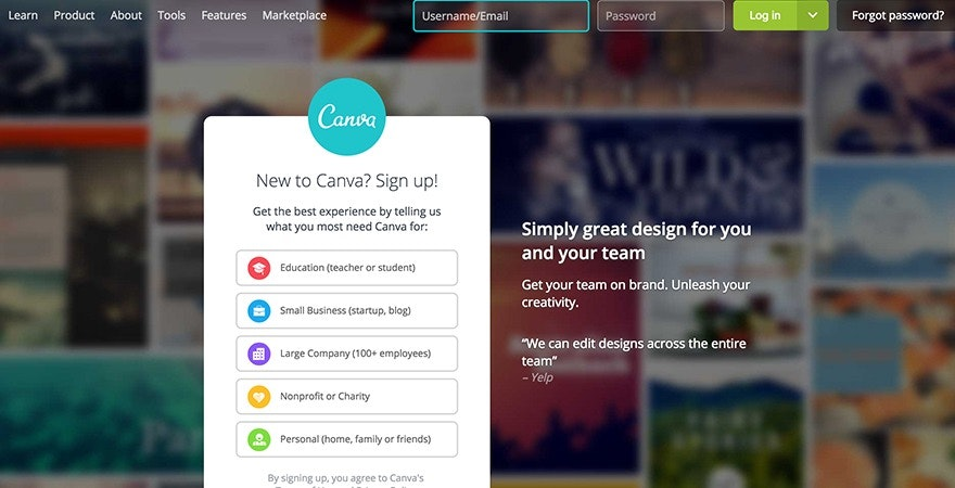 Canva - social media tools