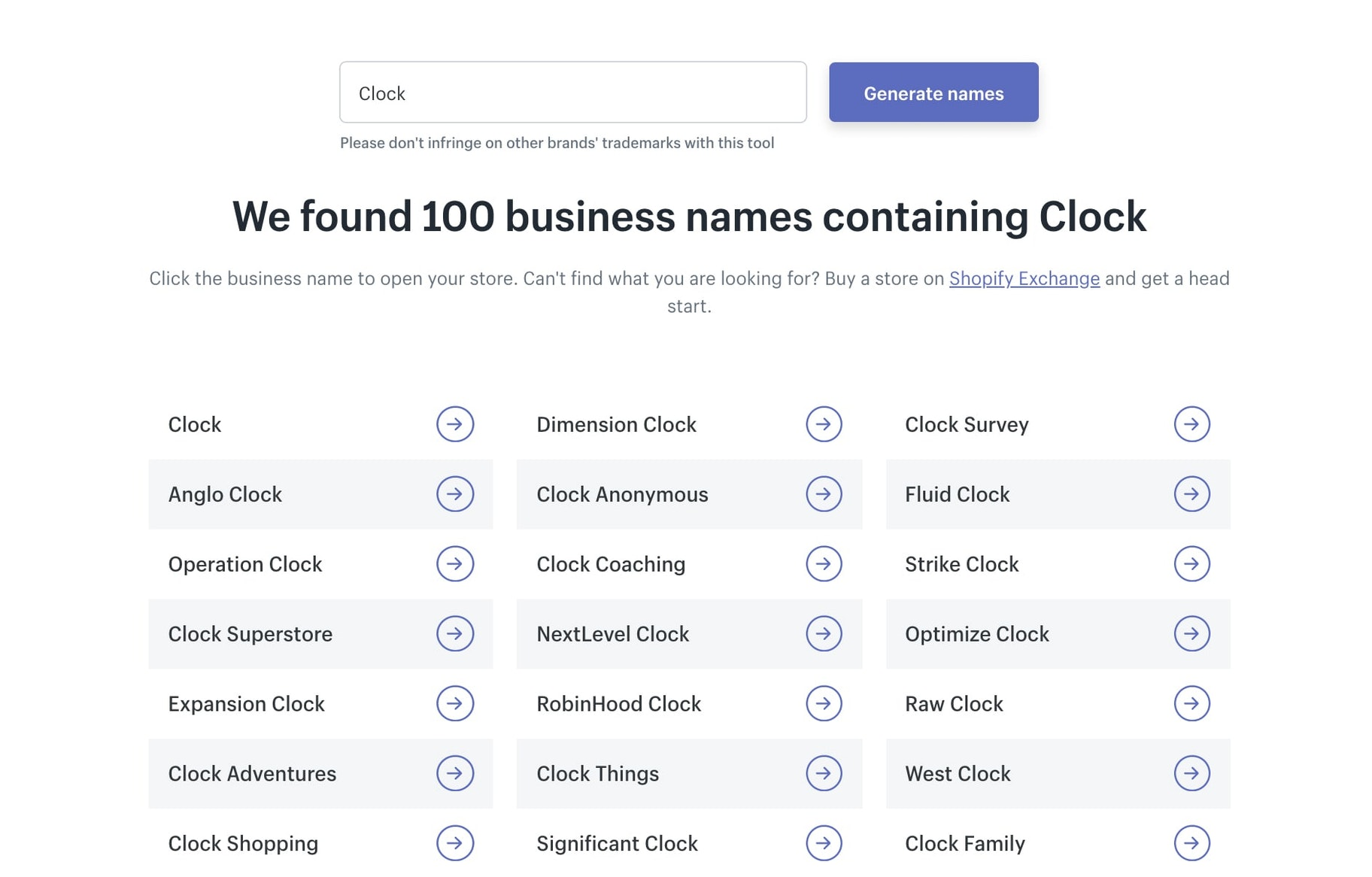 Shopify Tools - Business Name Generator