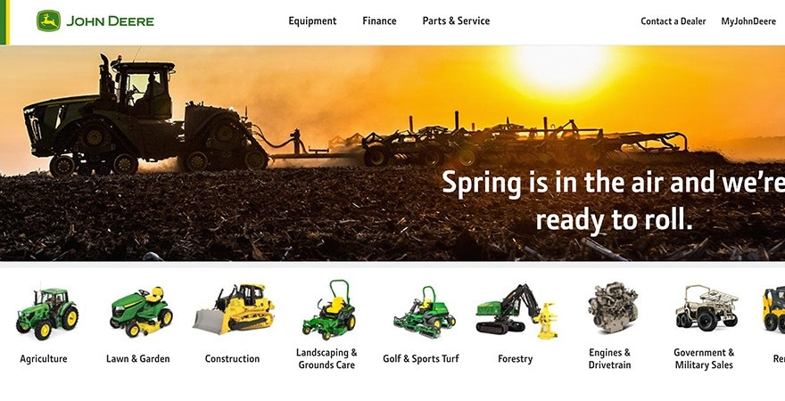 John Deere - marketing colors