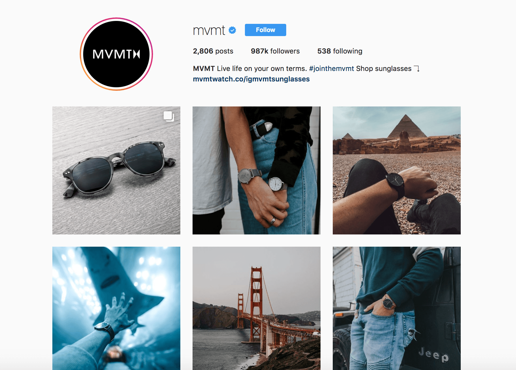 consistent instagram