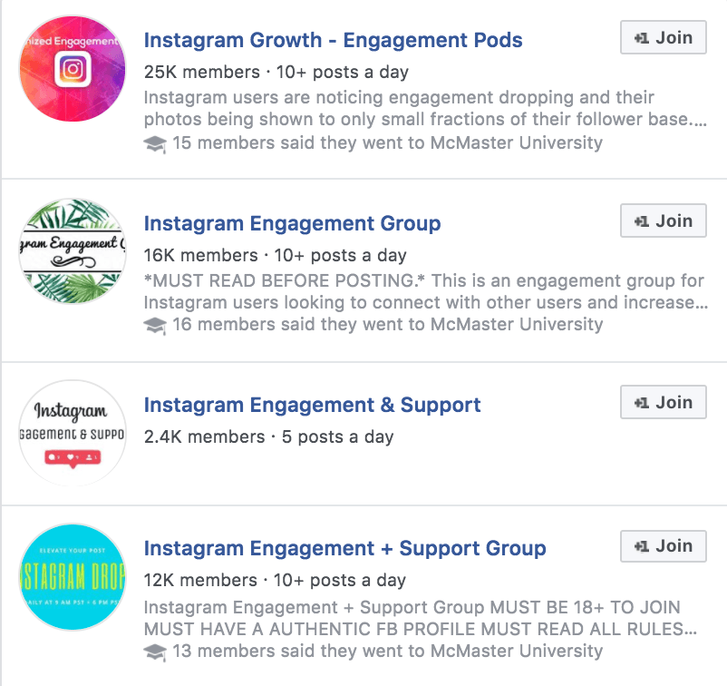 engagement groups to gain followers on Instagram
