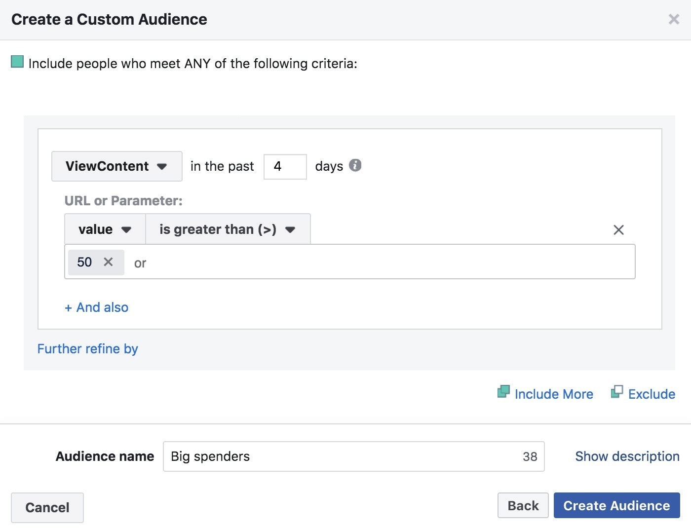 facebook pixel custom audience