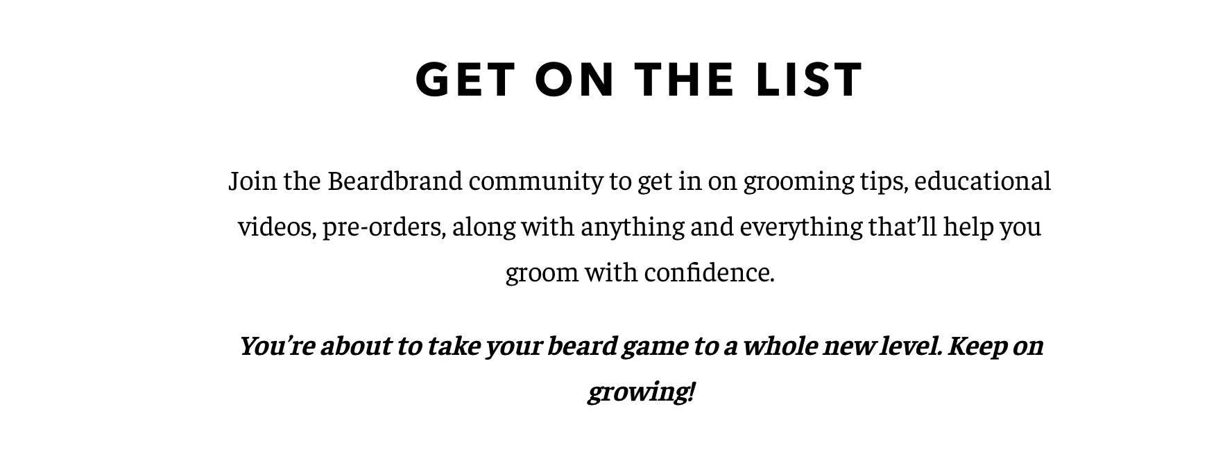 Beardbrand Branding strategy