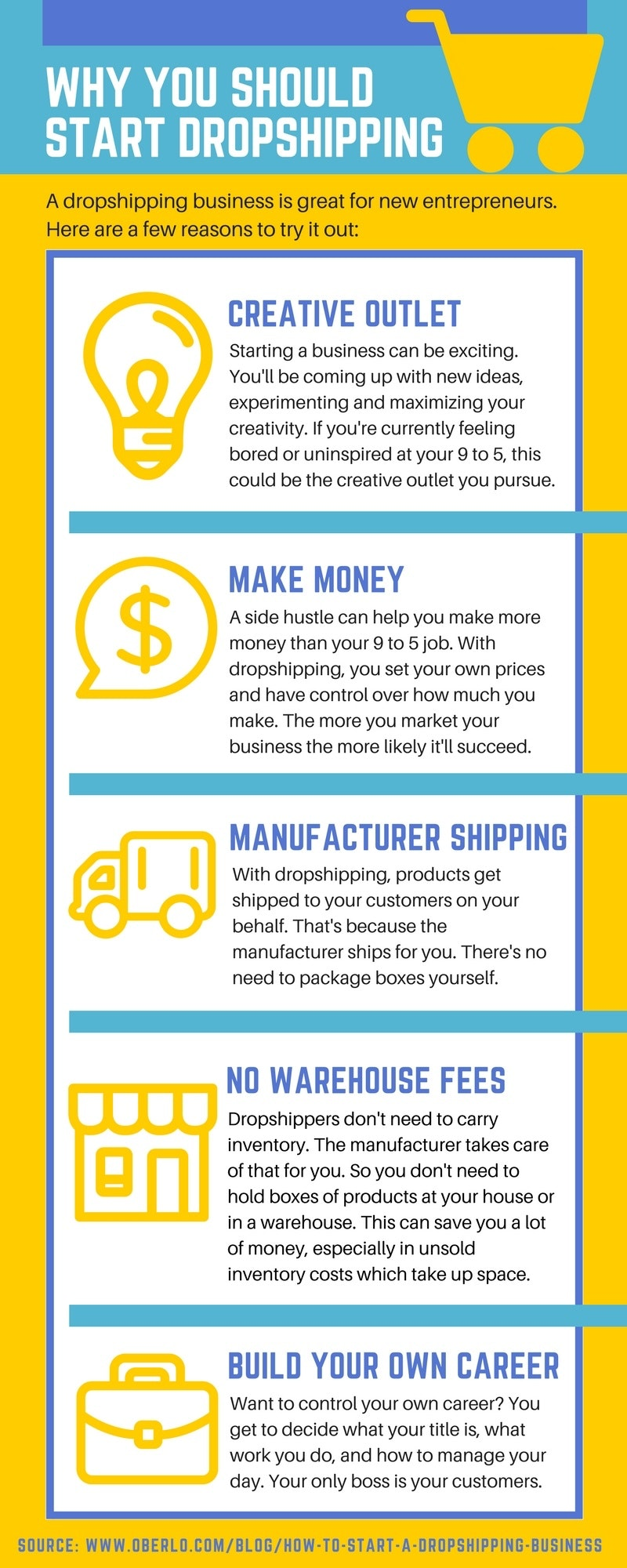 5 reasons to start dropshipping