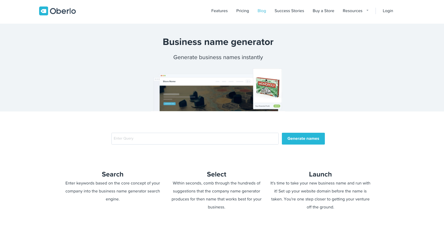 Free Business Name Generator
