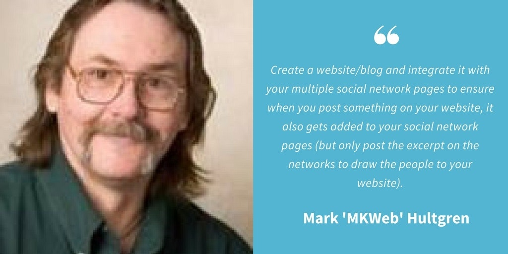Social Media Quotes - Mark 'MKWeb' Hultgren