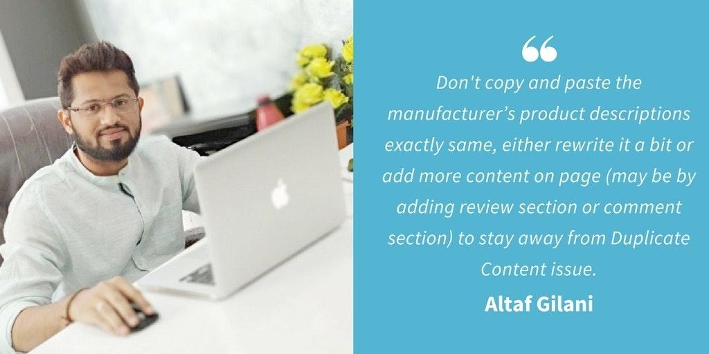 SEO Quotes - Altaf Gilani