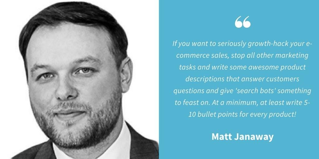 SEO Quotes - Matt Janaway