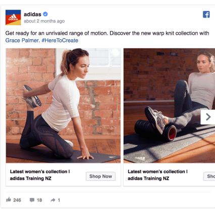 Adidas Facebook Ad Design