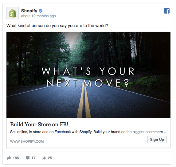Shopify Facebook Ad design